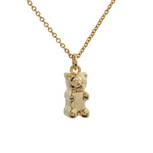 Gummy Bear Necklace, Gold - Candy - Wildflower + Co. Jewelry