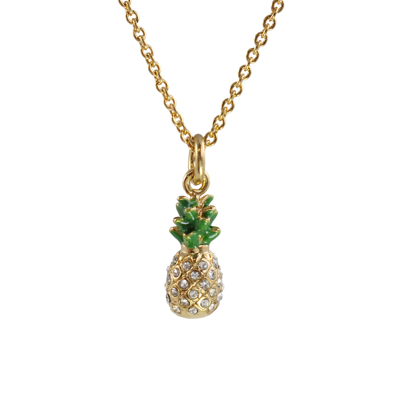 d64abbd474 Pineapple Necklace, Pave Crystal & Gold - Wildflower + ...