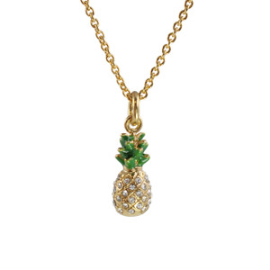 Pineapple Necklace, Pave Crystal & Gold - Wildflower + Co.