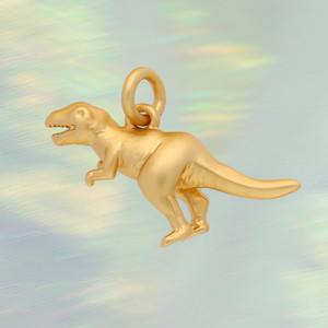 JW00285-GLD-OS-R - Dinosaur Charm, Gold -  Charm, Charms, Pendant, Pendants, DIY, Jewelry Making, Jewelry Supplies, Jewelry Making Supplies, Necklace Charm, Bracelet Charm, Charm for Necklace, Charm for Bracelet, Gold Charm, Positivity, Cute Charms, VSCO, Dino, Dinosaur - BC Crop