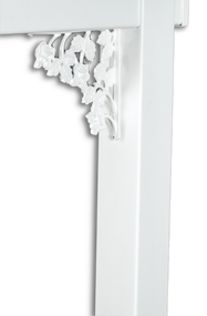 White Decorative Rose Bracket