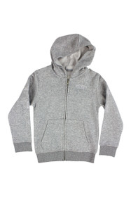 Boys Outline Zip Hoodie (Snow Marle)
