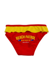Girls Beach Patrol Swim Bottoms (Red)