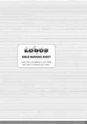 Lined Bible Marking Sheet Pads
