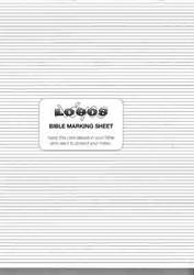Lined Bible Marking Sheet Pads
