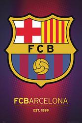 BARCELONA FC, Team Crest  Official Soccer  Poster 2015/16-#850