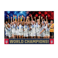 USWNT World Champions Poster 2019. US Women's National Soccer Team World Cup Champions poster 2019.