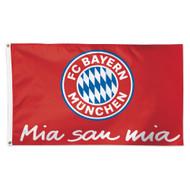 Bayern Munich Flag . Mia san mia slogan flag.