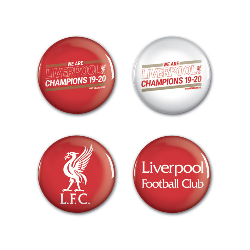 Liverpool FC Champions' Button Badges