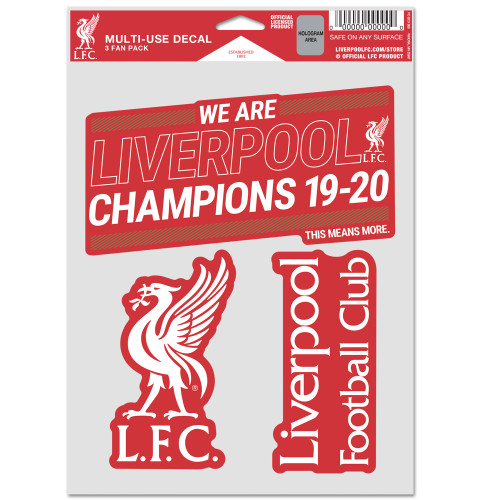 Liverpool FC Champions' Decal Set 3-Pk