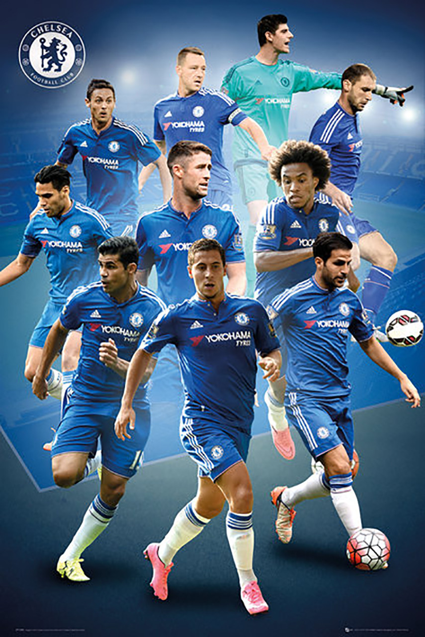 Chelsea Players Official Soccer Player Poster 2015/16- Buy Online ...