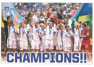 Light us your wall with this classic poster starring the US Women's National Soccer team as they celebrate their historic victory of World Cup # 4 in France 2019. #WorldChampions !!