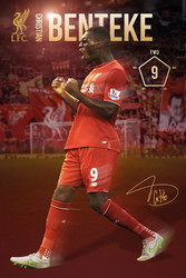 LIVERPOOL BENTEKE  Official Soccer Player Poster 2015/16-#308