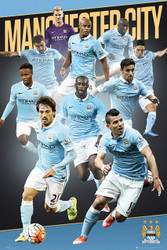 MANCHESTER CITY PLAYERS  Official Soccer  Poster 2015/16-#280