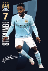 MANCHESTER CITY STERLING Official Soccer Player Poster 2015/16-#305