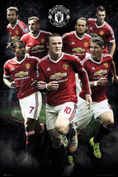 MANCHESTER UNITED PLAYERS  Official Soccer Poster 2015/16-#282