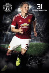 MANCHESTER UNITED SCHWEINSTEIGER Official  Player Poster 2015/16-#291