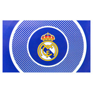 REAL MADRID FC BULLSEYE  Style Licensed Flag 5' x 3'