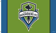 SEATTLE SOUNDERS Premium Fan Flag  5' x 3'