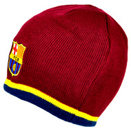 BARCELONA FC Official Burgundy Beanie Hat