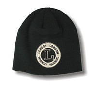 "ROBIN RUTH London ""Stamp"" Black Beanie Hat"