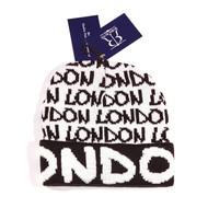 ROBIN RUTH London Black/ White Beanie Hat with Cuff