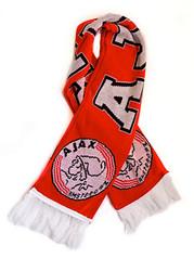 Ajax scarf. Ajax of Amsterdam soccer fan scarf.