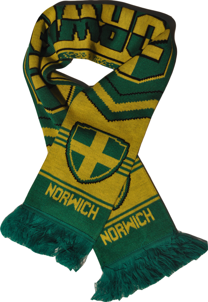 Ships From USA Authentic Soccer Fan Scarf Norwich City FC