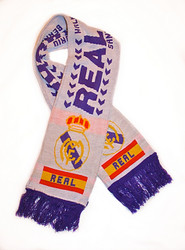 REAL MADRID FC WHITE Authentic Fan Scarf