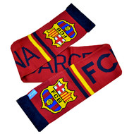 BARCELONA FC Licensed Stripe Scarf
