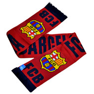 BARCELONA FC Licensed Burgundy Scarf