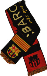 BARCELONA FC Licensed Bufanda Black Scarf