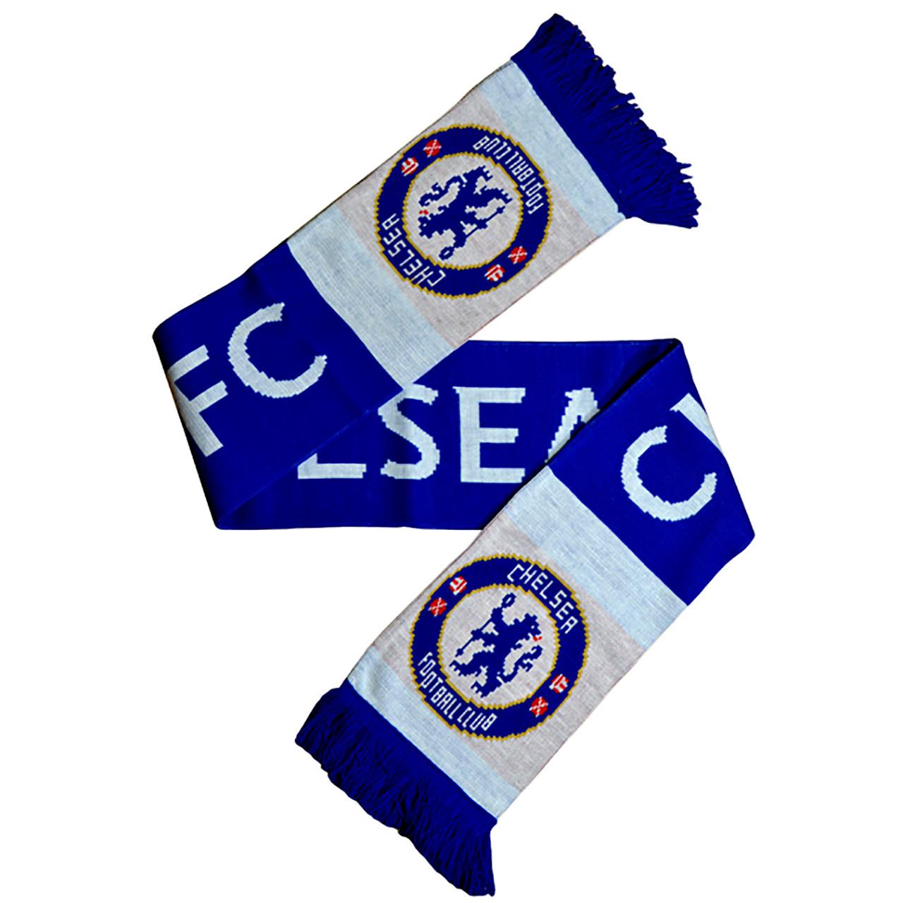 Chelsea Fc Licensed Tipped Wordmark Scarf