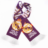 Pledge your allegiance to REAL MADRID FC with this Official/ Purple Team Scarf! This classic scarf features a sharp design, with Real Madrid FC Purple colors throughout