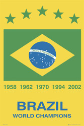 BRAZIL National Soccer Team Poster-#336