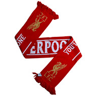 LIVERPOOL FC Licensed Stripe/ YNWA  Scarf