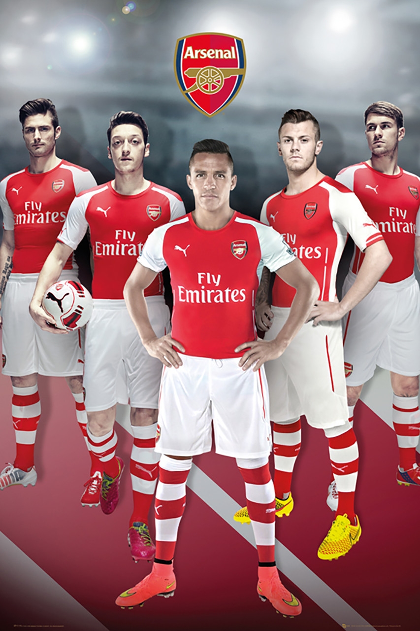Arsenal Players Official Soccer Player Poster 14/15 - Buy ...