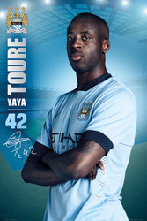 MANCHESTER CITY FC Official YAYA Toure Poster 14/15-#124