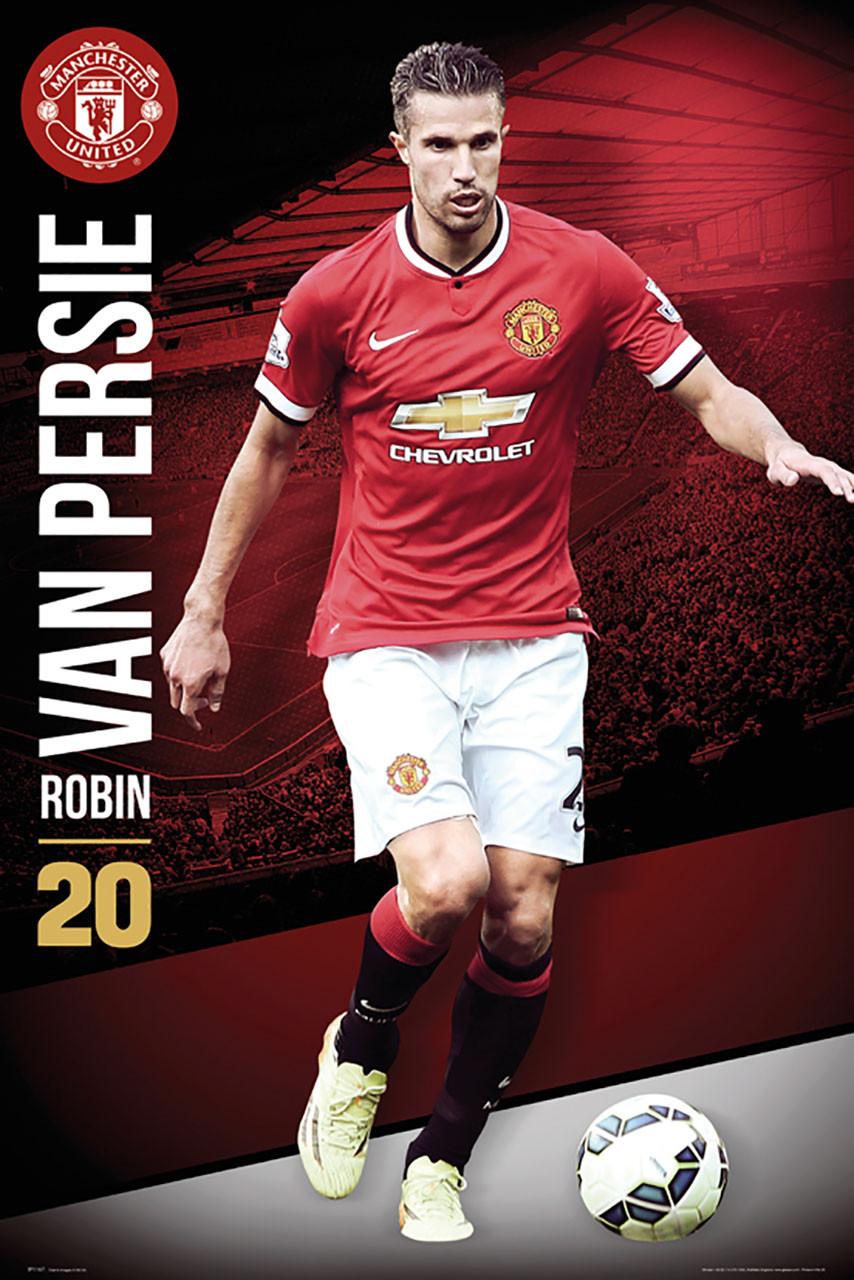 timeless design 7fba1 85320 MANCHESTER UNITED FC Official Robin Van Persie Poster 14/15-#167