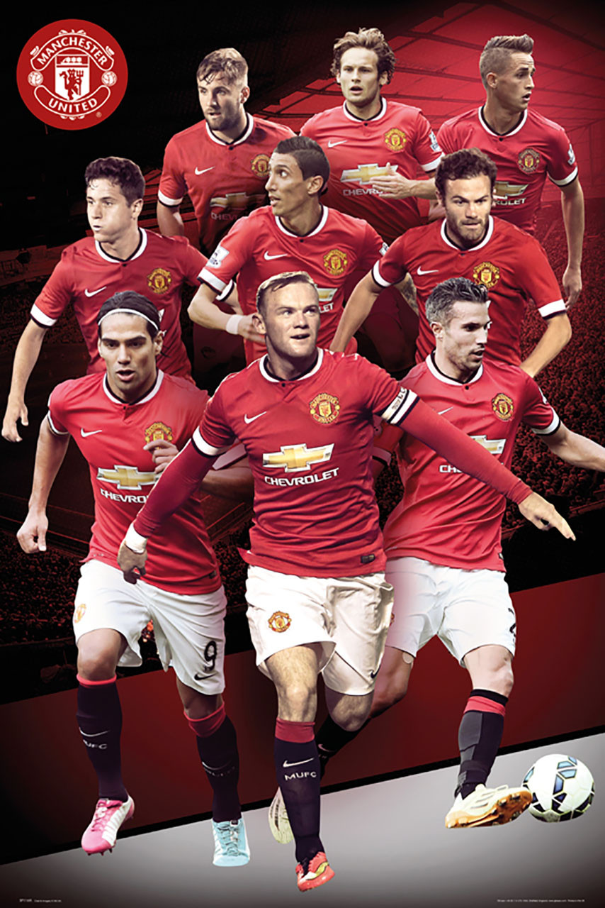 Manchester United Players Montage Poster 14 15 Buy
