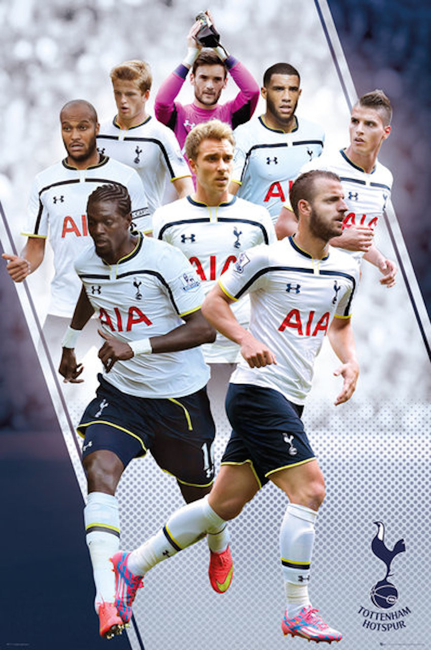 Tottenham Spurs FC Players Montage Poster 14/15 - Buy ...
