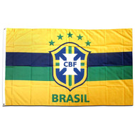 CBF BRASIL 5 x 3 Flag/ Horizontal Stripes