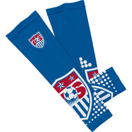 USA National Soccer Team Sleefs Compression Sleeves -Blue Crest Pair