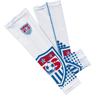 USA National Soccer Team Sleefs Compression Sleeves -White Crest Pair