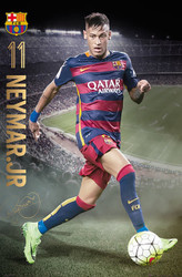 BARCELONA FC, Neymar Official Soccer Action Poster 2015/16-#322