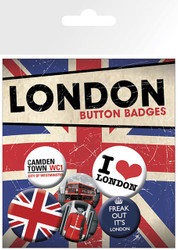 LONDON Badge 6 Pack I Heart London