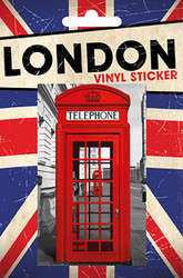 LONDON Vinyl Stickers- Telephone Booth