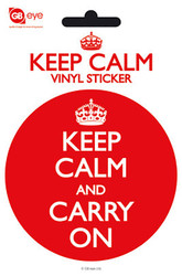 LONDON Vinyl Stickers- Keep Calm and Carry On
