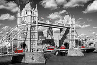 LONDON- London Bridge with Buses Poster-#420