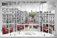 LONDON- London Window/ Landmarks Poster-#454
